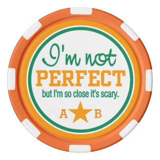 Nicht perfekte kundenspezifische poker chips set