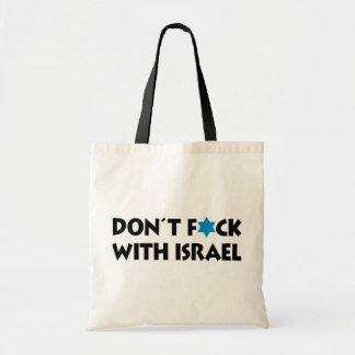 Nicht tun F*ck mit Israel - jüdischer Staatsstolz Tragetasche
