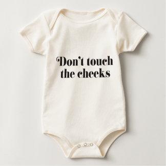 Nicht tun Touch die Backen Baby Strampler
