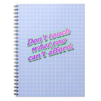 Nicht tun Touch-Foto-Notizbuch Spiral Notizblock