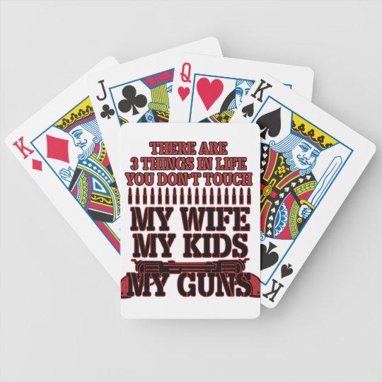 Nicht tun Touch meine Ehefrau meine Kinder meine Bicycle Spielkarten