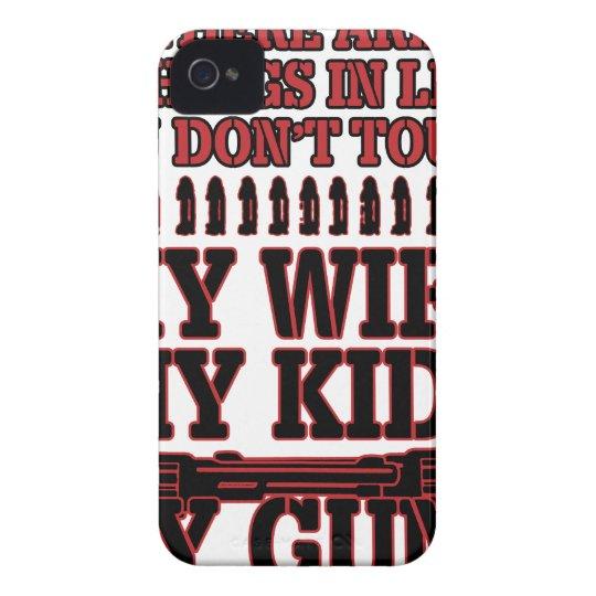 Nicht tun Touch meine Ehefrau meine Kinder meine iPhone 4 Case-Mate Hülle