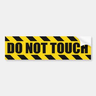 Nicht tut Touch-Polizei riskiert schwarze gelbe Autoaufkleber
