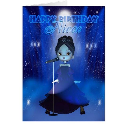 Nichten-alles Gute zum Geburtstag Deva niedliche Grußkarte