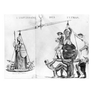 Nichtige Bemühungen des Ultras, 1819 Postkarte