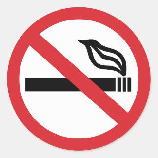 Nichtraucher Runder Aufkleber