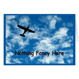 Nichts, das gerade ein Flugzeug extravagant ist, Karte