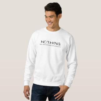 Nichts-Einfaches weißes Sweatshirt mit nichts auf