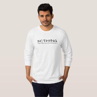 Nichts - einfaches weißes T-Stück mit nichts auf T-Shirt