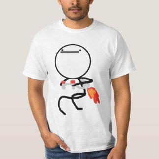 Nichts, hier zu tun rasen Gesicht Meme Shirt