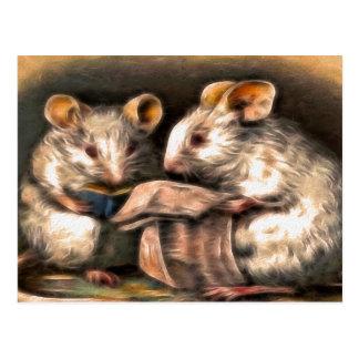 """""""Nichts im Fernsehen heute Abend"""" Mäusepostkarte Postkarte"""