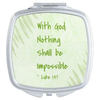 Nichts ist unmögliche Palme Taschenspiegel