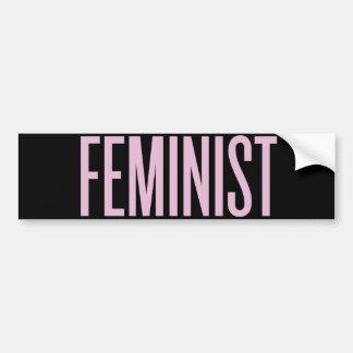 Nichts mögen den Feminismus morgens Autoaufkleber