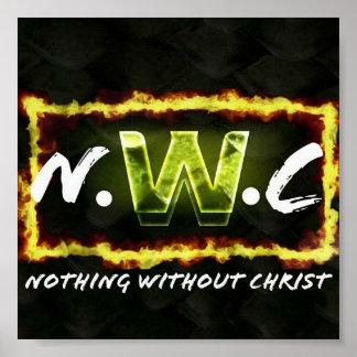 Nichts ohne Christus-Plakat Poster