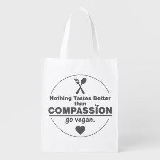 Nichts schmeckt besser, als Mitleid vegan gehen Wiederverwendbare Einkaufstaschen