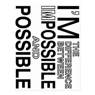 Nichts unmöglich postkarte