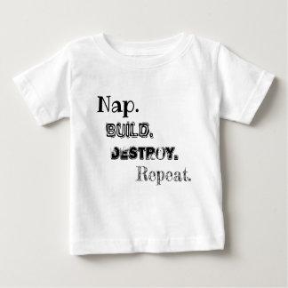 Nickerchen-Gestalt zerstören Wiederholungs-Shirt Baby T-shirt