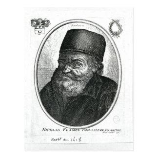 Nicolas Flamel graviert von Balthazar Moncornet Postkarte