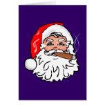 Nicolas homme de Noël cigare Santa Claus cigar Carte De Vœux