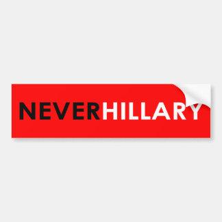 Nie Hillary-Autoaufkleber (rot) Autoaufkleber