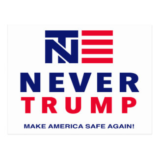 """""""NIE TRUMPF: STELLEN SIE AMERIKA-SAFE WIEDER HER! POSTKARTE"""