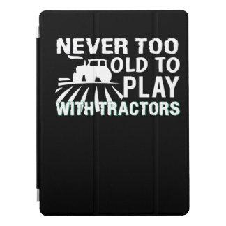 Nie zu alt Traktor-Bauern spielen iPad Pro Hülle