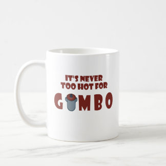 Nie zu heiß für Gumbo-Spaß-Louisiana-Gumbo-Tasse Kaffeetasse