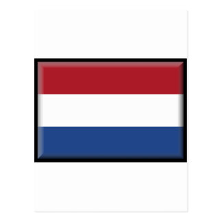 Niederländische Flagge Postkarte