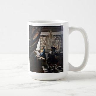 Niederländische Künstler Vermeer Malerei-Kunst der Kaffeetasse