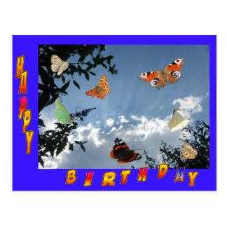 Niederländische Schmetterlings-blaue Postkarte