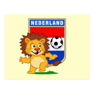 Niederländischer Fußball-Löwe Postkarte