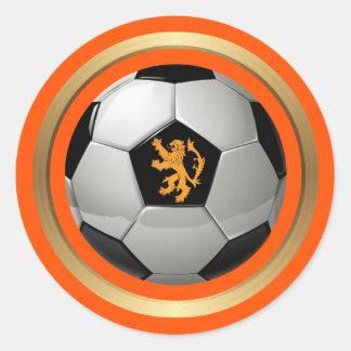 Niederländischer Fußball, niederländischer Löwe Runder Aufkleber