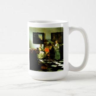 Niederländischer Künstler Vermeer, der das Konzert Kaffeetasse