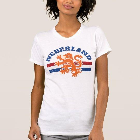 Niederländischer niederländischer Löwe und Flagge T-Shirt