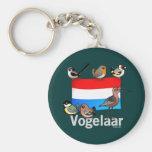 Niederländischer Vogelbeobachter: Vogelaar Standard Runder Schlüsselanhänger