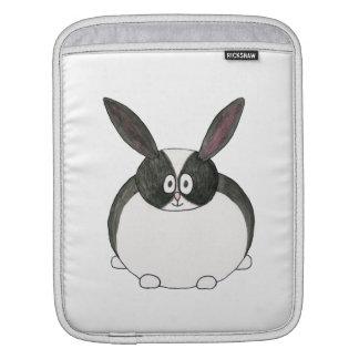 Niederländisches Schwarzweiss-Kaninchen iPad Sleeves