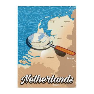 Niederländisches Vintages Kartenferienplakat Acryldruck