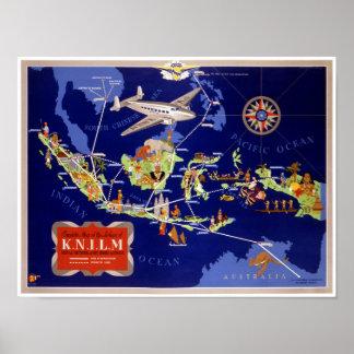 Niederländisches Vintages Reise-Plakat wieder Poster