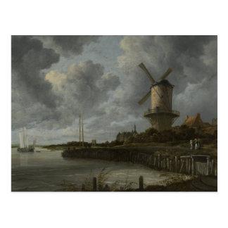 Niederländisches Windmühle Wijk bij Duustede, Postkarte