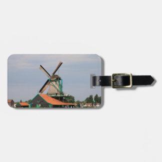 Niederländisches Windmühlendorf, Holland 3 Gepäckanhänger