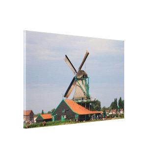Niederländisches Windmühlendorf, Holland 3 Leinwanddruck