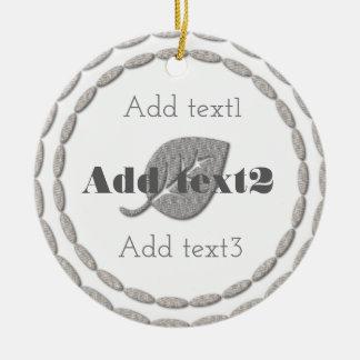 Niedlich addieren Sie Text-magisches silbernes Keramik Ornament