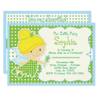 Niedlich, Baby-feenhafte Geburtstags-Party Karte