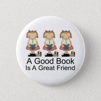 Niedlich ist ein gutes Buch ein großer Freund-T - Runder Button 5,1 Cm