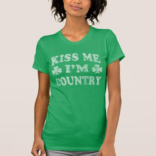 Niedlich küssen Sie mich, den ich Land-St Patrick T-Shirt