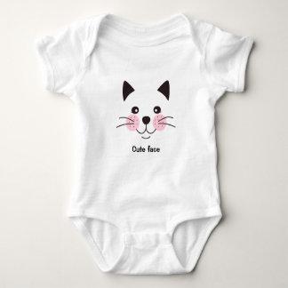 Niedlich, smileykatzengesicht baby strampler
