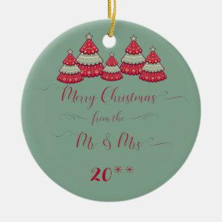 Niedlich verzieren unser erstes Weihnachten Rundes Keramik Ornament
