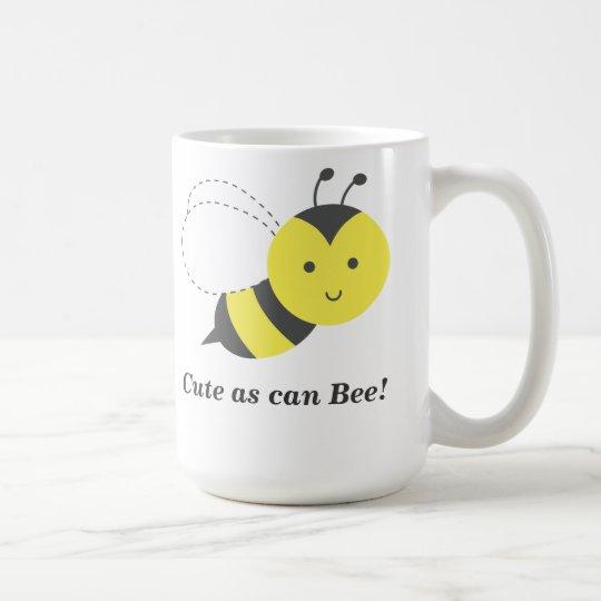 Niedlich, wie Biene kann Kaffeetasse