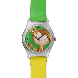 Niedliche Affe-Uhr Uhr