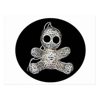 Niedliche Amigurumi Voodoo-Puppe Postkarte